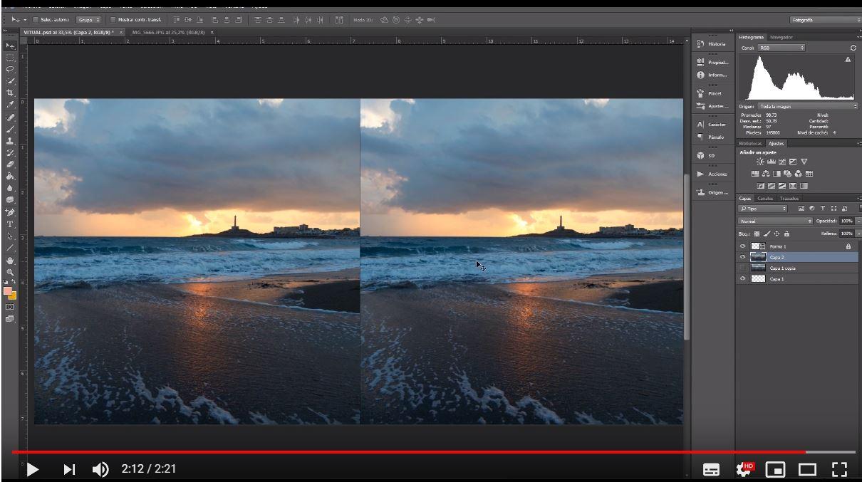 realidad virtual con photoshop
